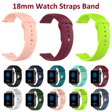 18 Mm Sport Siliconen Horloge Band Strap Voor Xiaomi Mi Smart Horloge Fossiele Sport 41 Mm Nokia Staal Hr 36mm Bands Armband Pols Bandjes(China)