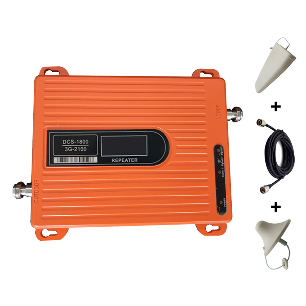 Mobile Signal Booster Dual Band DCS 3G 1800/2100MHz Signal Repeater