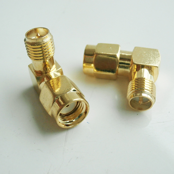 RP SMA To RP SMA Cable Connector Socket RP SMA Male To RP SMA Female Plug 90 Degree Right Angle Gold Plated Brass RF Adapter sale 10 pcs adapter rp sma male jack to rp sma female connector straight gold plating high quality minijack plug wire connector
