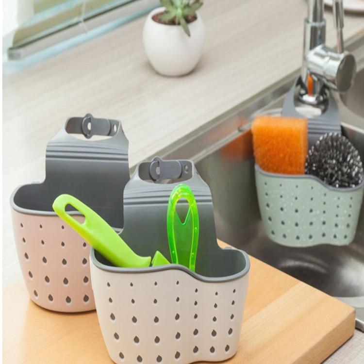 Permalink to Kitchen Organizer Sponge Storage Hanging Basket Drainer Kitchen Sink Adjustable Snap Sink Rack Hanging Kitchen Holder Bathroom