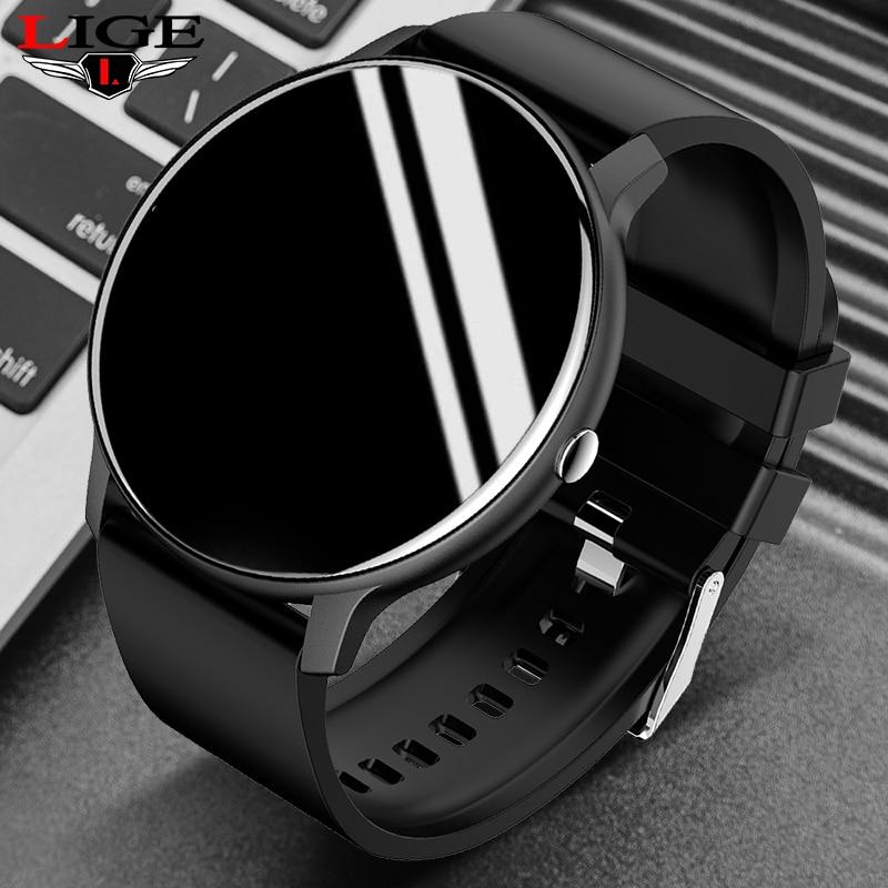 LIGE 2021 New Smart Watch Men Full Touch Screen Sport Fitness Watch...