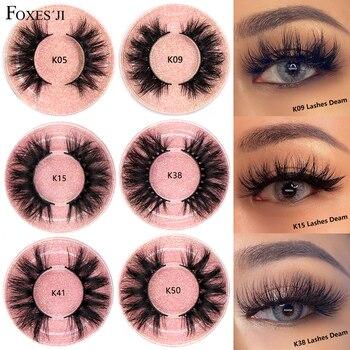FOXESJI Lashes 3D Mink Eyelashes Thick Fluffy Soft Eyelash Extension High Volume Natural False Eyelashes Makeup Mink Eye Lashes недорого