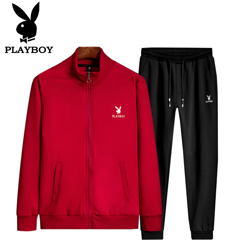 Playboy Men's Wear Trendy Sweater Comfortable Breathable Handsome Sports Clothes   Sports Pants Spring And Autumn Suit