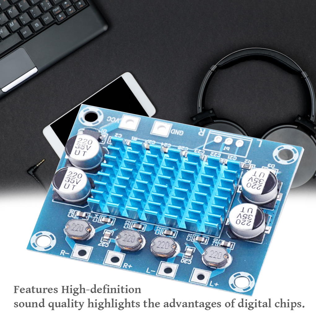 TPA3110 Audio Power Amplifier Board 30W+30W 2.0 Channels Digital Audio Power Amp Circuit Board Module DC8V-26V