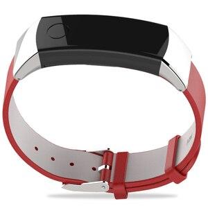 Image 4 - 화웨이 시계 명예 밴드 3 밴드 손목 스트랩 시계 밴드에 대한 정품 가죽 스트랩 명예 3 스마트 팔찌 팔찌 액세서리