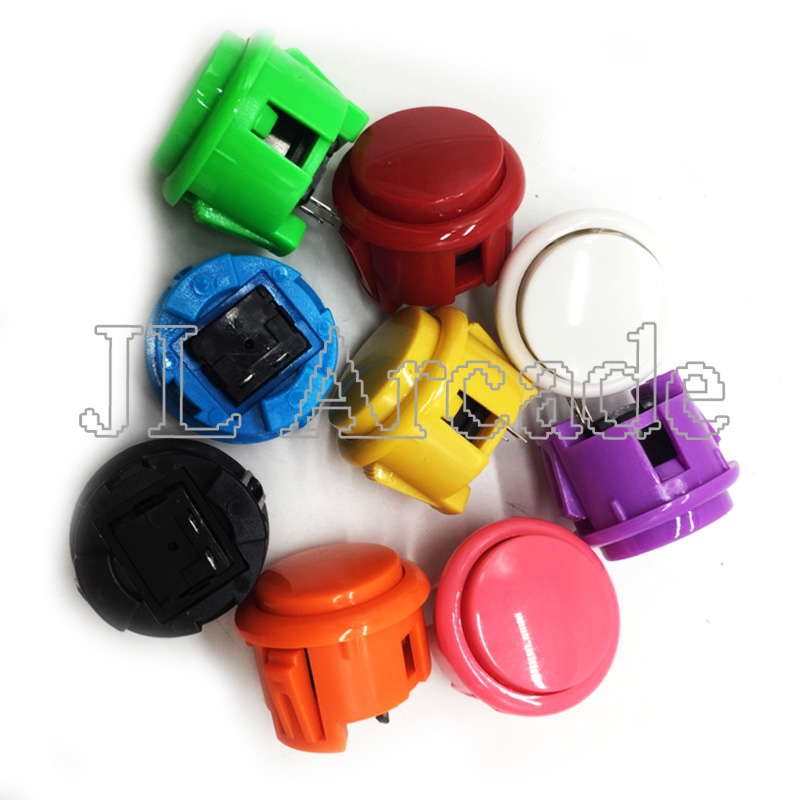 12 Pcs Arcade 30mm Round Button Copy SANWA OBSF-30 Push Button JAMAE MAME DIY Parts