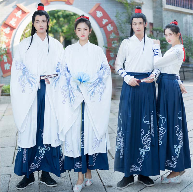 Men&Women Hanfu Chinese Ancient Traditional Sets Kimono Couples Carnival Cosplay Costume Fancy Dress For Men Women Plus Size 4XL