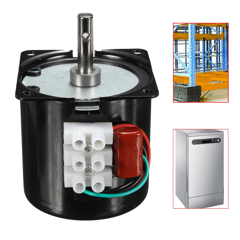 60KTYZ <font><b>220V</b></font> AC 14W Permanent Magnetic Magnet Electric Synchronous <font><b>Motor</b></font> <font><b>Gear</b></font> 50Hz 15r/min Totally Enclosed Low Speed <font><b>Motor</b></font> image