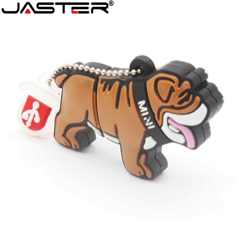 JASTER Lovely Mini Bulldog USB Flash Drive Cute Animal Cartoon USB 2.0 4gb/8gb/16gb/32gb/64gb Real Capacity USB Memory Stick