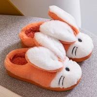 Frauen Winter Warme Hausschuhe Niedlichen Kaninchen Hausschuhe Indoor Schuhe Für Mädchen Nicht Weiche Plüsch Lustige Rutschen Paare Pelzigen Pantoffel