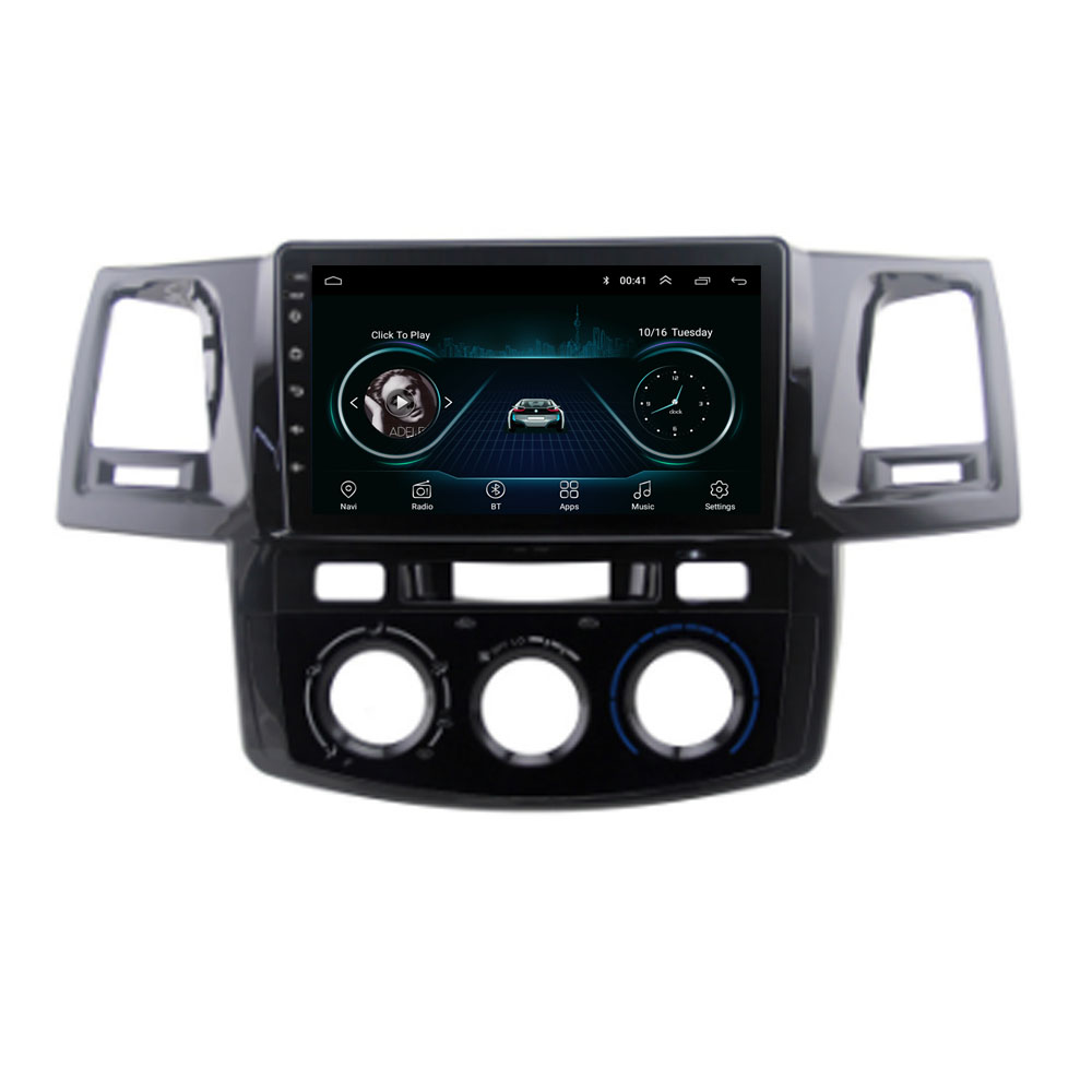 4G LTE Android 8.1 For Toyotal Fortuner/HILUX Revo / Vigo 2004-2013 2014  Multimedia Stereo Car DVD Player Navigation GPS Radio