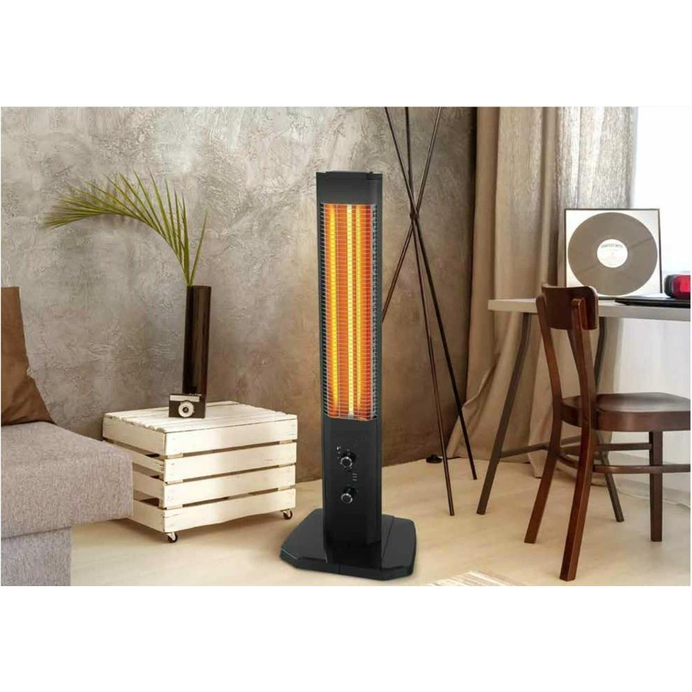 1800W Orbit Tower Heater VERTICAL DESIGN Indoor Outdoor Electric Panel Infrared Patio Space Heater with Thermostat Heating Stove