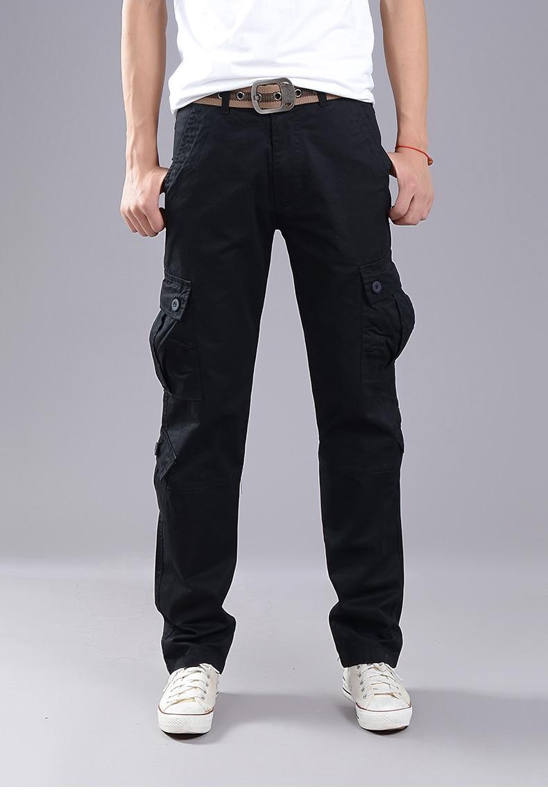 KSTUN Cargo Pants Men Combat Army Military Pants 100% Cotton 4 Colors Multi-Pockets Flexible Man Casual Trousers Overalls Plus Size 38 20