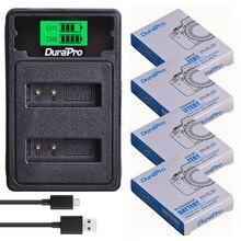 DuraPro – batterie Li-ion 1850mAh + chargeur LCD USB avec Port de Type C, pour appareil photo Nikon COOLPIX P900,P610,P600,B700,S810c