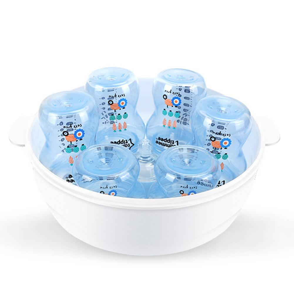 High Capacity Heat-Resistance Baby Bottle Microwave Steam Sterilizer Storage Box New
