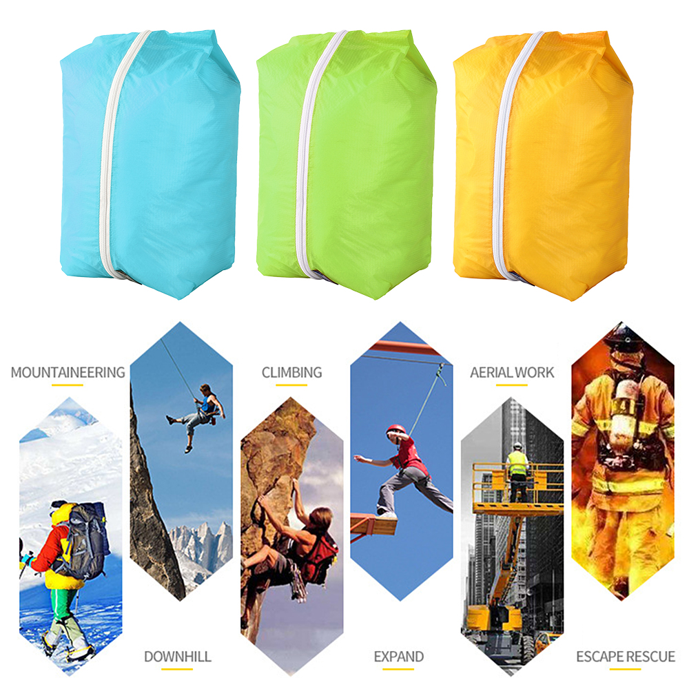 Bluefield 3PCS Waterproof Camping Organizer Bag Outdoor Reusable Zipper Storage Pack Home Camping Traveling Shoes Pouch Bag