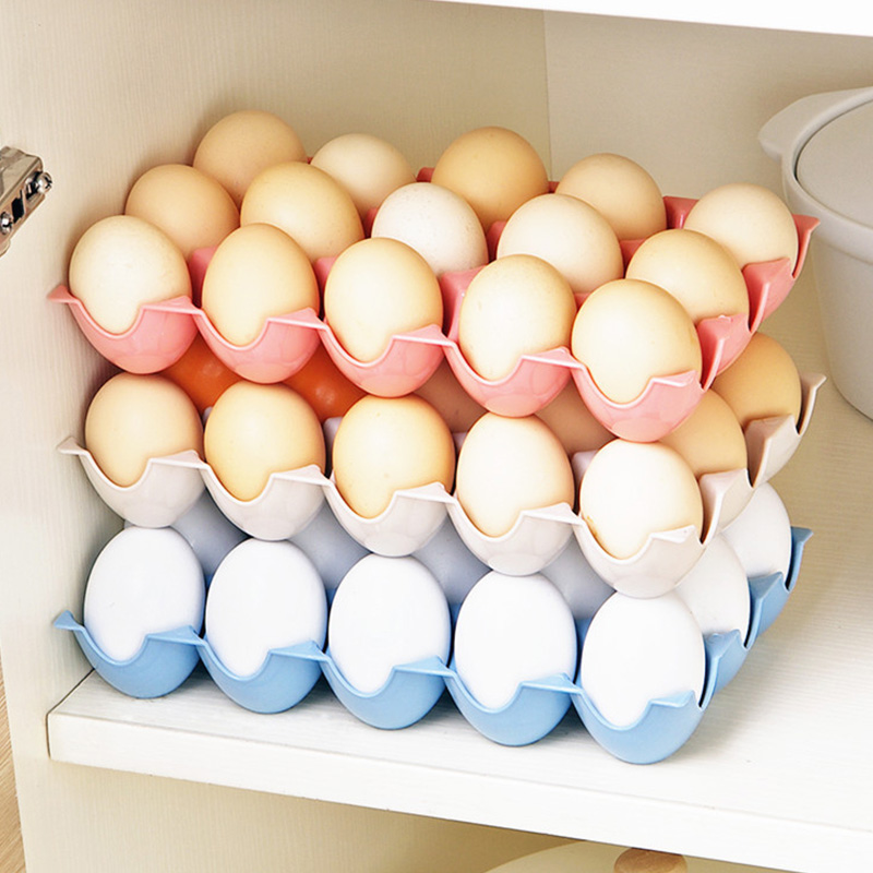Egg Holder Box Refrigerator Storage Tray for 15Pcs Eggs Shatter-proof K1372 D