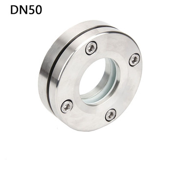 DN50 SUS304 Stainless Steel Sanitary Sight Glass Flat Round Face Flange Diopters