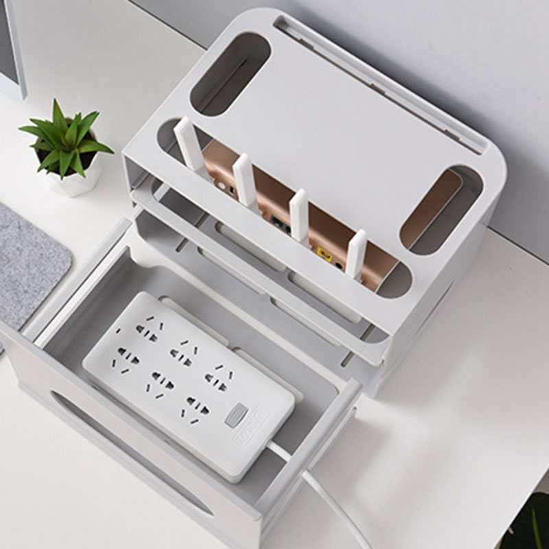 4-Двухслойный ящик типа беспроводной WIFI маршрутизатор коробка для хранения штепсельная плата кронштейн Кабельный органайзер для хранения смотреть на Алиэкспресс Иркутск в рублях
