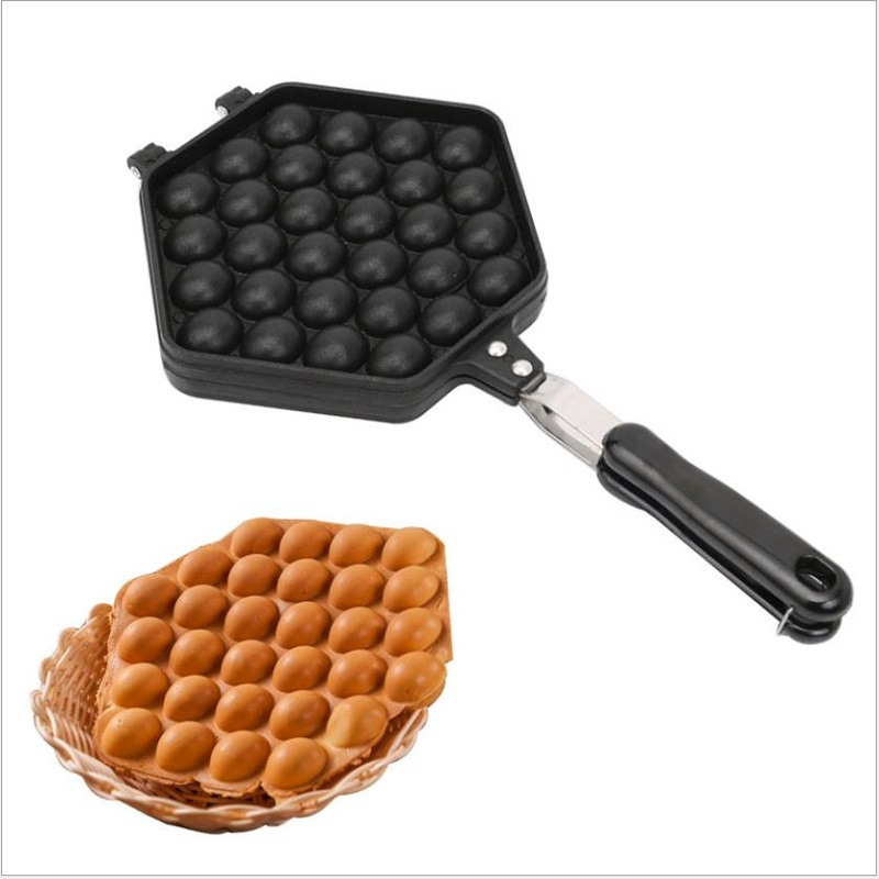 Hong Kong Eggettes Waffle Maker Mould Household Gas QQ Egg Bubble Cake Pan Egg Muffin Pastry Mold Machine Non-stick Bakeware