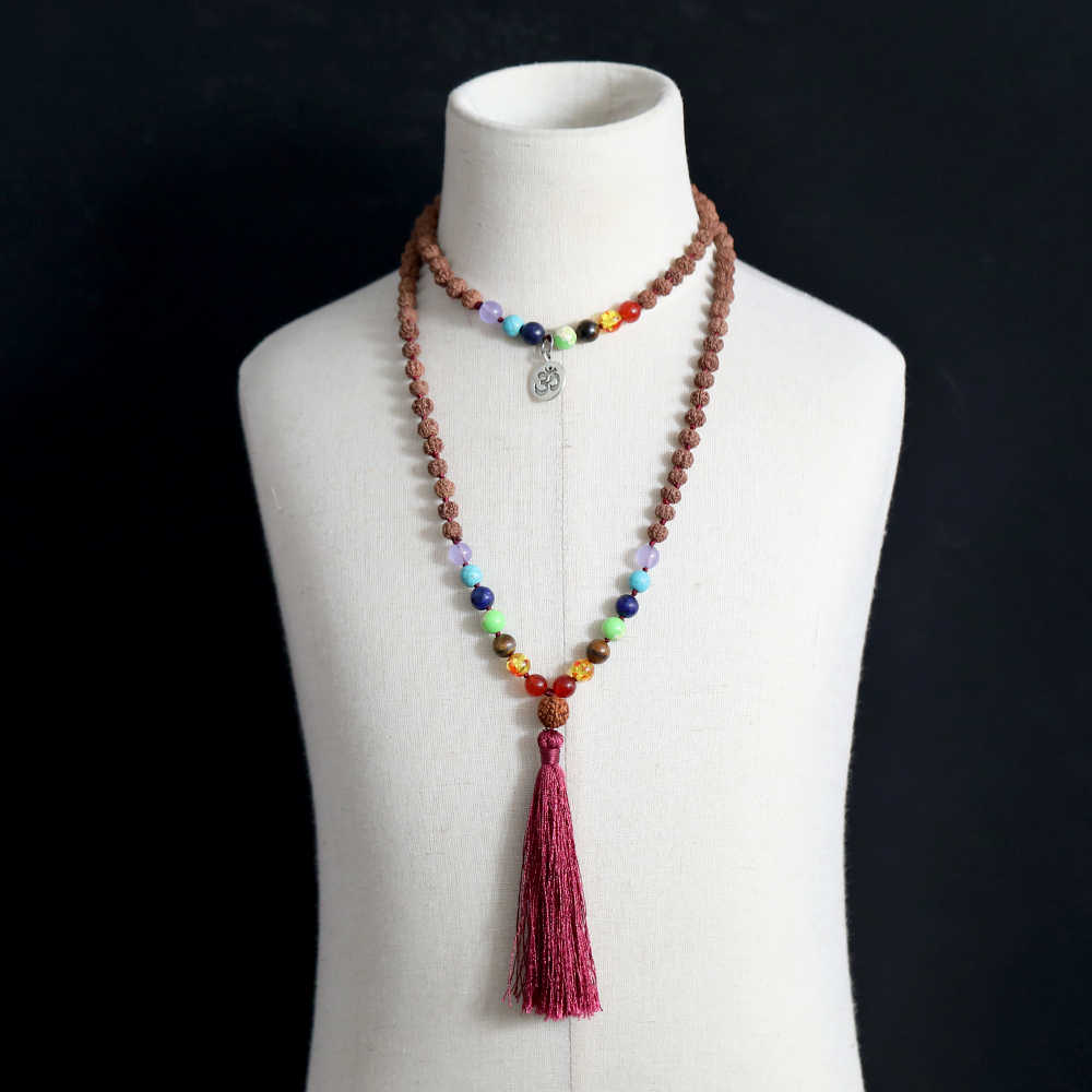 Yoga Necklace Gifts for Her Necklace Mala Necklace Chakra Necklace Pendant Necklace 108 Mala Mala Necklace