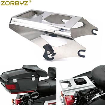 ZORBYZ motocykl Chrome dwa Pak pakiet do montażu na bagażnik dla Harley Road King Street Glide 2009-2013 tanie i dobre opinie 0inch LH1800 2 5kg High Quality Steel Luggage Rack Systemy carrier