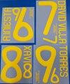 Супер ретро 2008 2010 Чемпионат мира по футболу Испания дома 6 A. Иньеста 9 Торрес Футбол Джерси номер шрифт печати, горячее теснение, патчи значки