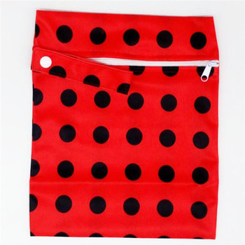 20*25cm Mini Diaper Wet Bag Single Pocket Zipper Baby Bags For Mom Maternity Travel Stroller Bag PUL Nappy Diaper Bag Wetbag - A26