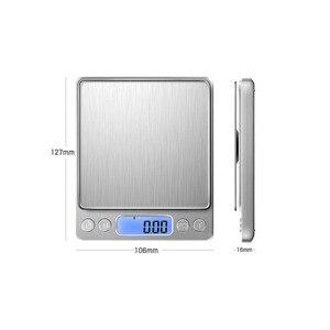 Image 4 - Dijital gramera hassas terazi Mini terazi gıda mutfak terazisi akıllı elektronik LED dijital ağırlık dengesi terazi bascula cocina