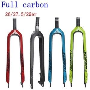 Bike Carbon Fork TOSEEK 26/27. 5/29er MTB bicicleta Bike Road Forks amortiguación montaña parte delantera Horquilla 2019