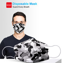 10/100pcs Mascarillas Face Mask For Adults Anti Dust 3 Layers Meltblown Disposable Camouflage Mouth Cover Mask Mondmasker Masque