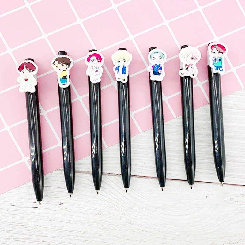 Kpop House Of Bangtan Boys JK Ballpoint Pens Kawaii Black Ink Ballpen Pilot Pen For Office School Writing Supplies Stationery