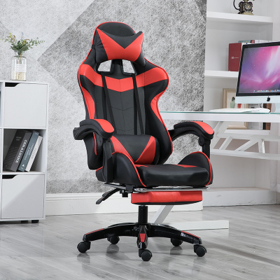 Presale High Quality Boss Office Chair Ergonomic Computer Gaming Chair Internet Seat Household adjustable Reclining Lounge Chair - Цвет: Solid footrest red