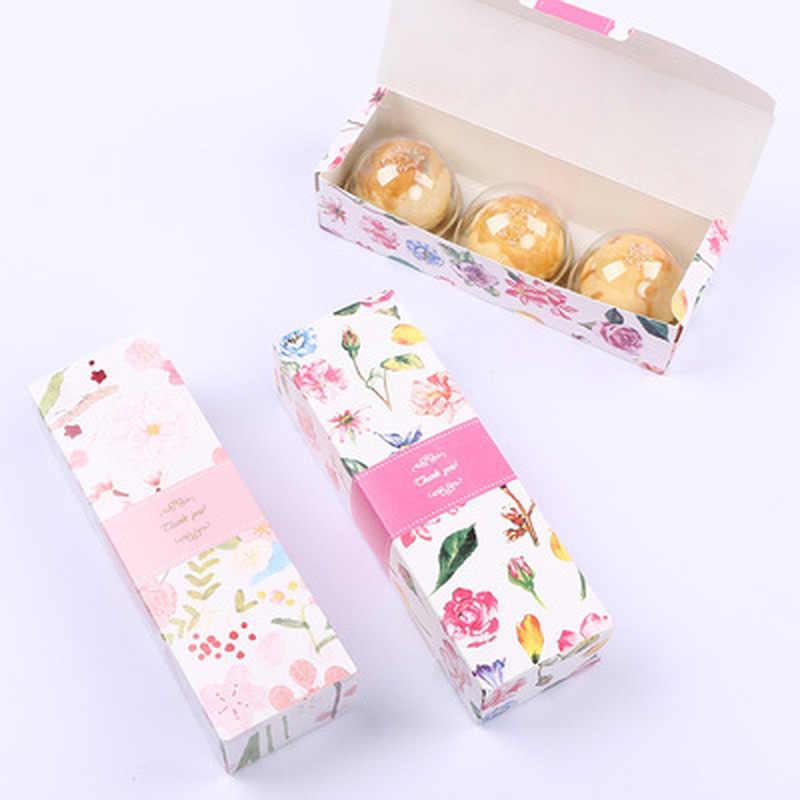 1PC Lange Streifen Nettes Geschenk Box Nougat Cookie Boxen Candy Ananas Kuchen Backen Papier Karton Geburtstag Party Hochzeit Verpackung taschen