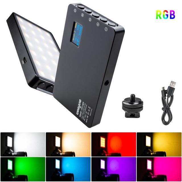 VILTROX Weeylife RB08P فيديو صغير مصباح ليد RGB 2500 8500K المحمولة ملء ضوء المدمج في بطارية للهاتف كاميرا اطلاق النار استوديو