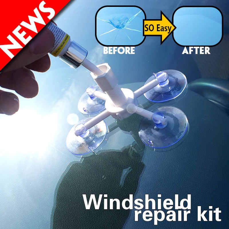 車の窓ガラス修理ツール硬化接着剤フロントガラス修理キットクイックフィックス車ガラスオートスクラッチリペアペンクラック復元