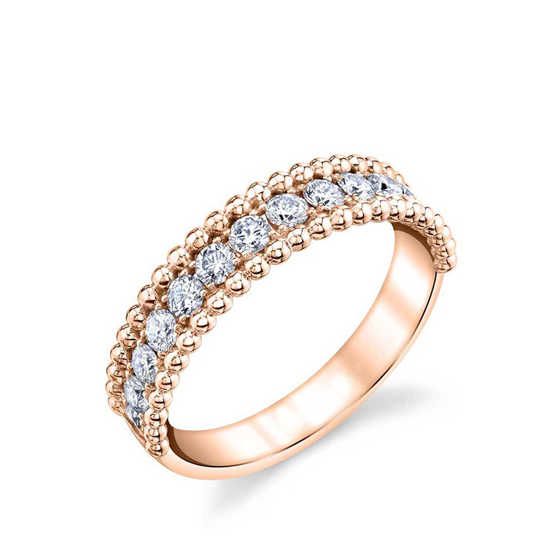 Women Luxury Rhinestone Round Rings Exquisite Zircon Wedding Engagement Fashion Ring For Women Fashion Jewelry