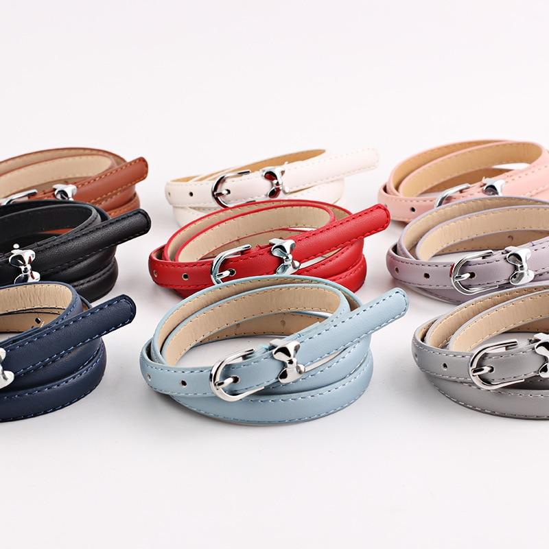 New Harajuku Luxury Fashion Bow Decorative Thin Belts Wholesale Waist Ladies Wild Women's Pants Belt  Chain Belt Women Belt