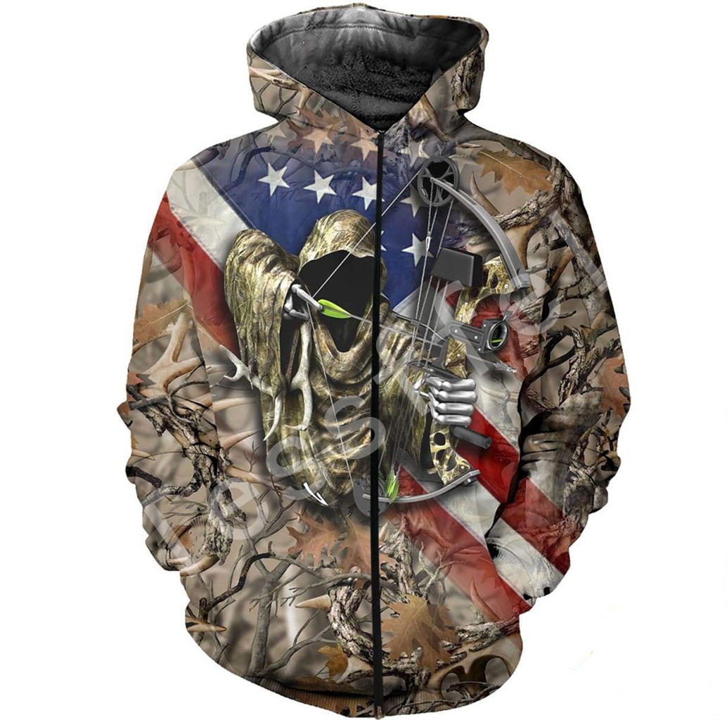 Tessffel animal Hunter Legend camo 3D Printed Hoodie Sweatshirt Jacket shirts Mens Womens HIP HOP fit colorful Harajuku style 12 in Hoodies amp Sweatshirts from Men 39 s Clothing