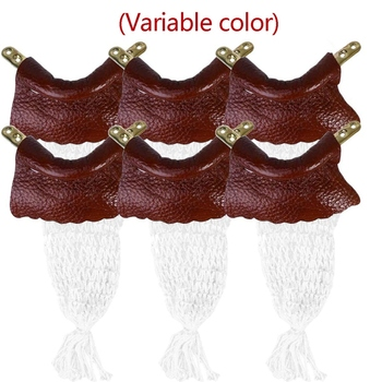Snooker Pocket Nets Billiard Pool Table Net Replacement Leather Pockets Set of 6