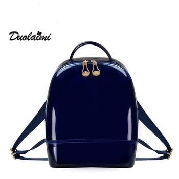 mini backpacks for teenage girls 2018 hot backpack beach bag transparent women pvc Silicone jelly female 30X0010
