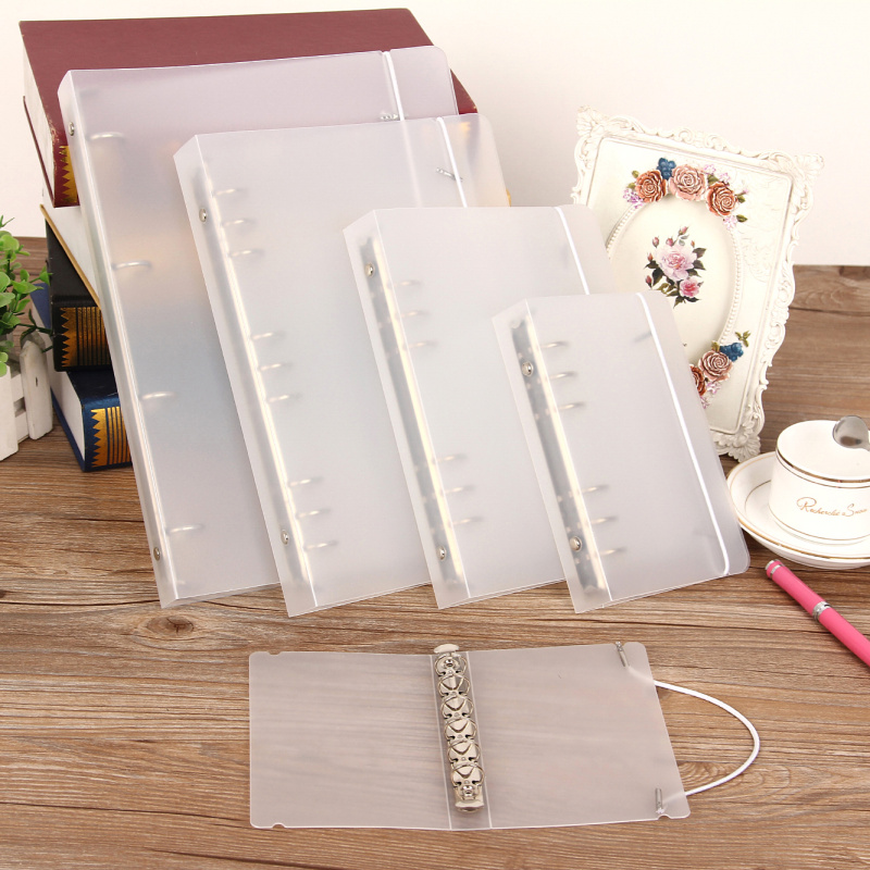 A4 A5 A6 A7 B5 Ring BinderNotebook Scrub Loose-leaf Business Office Standard PP Inner Core Cover Note Book Journal Planner Offic