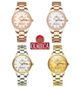 Image 5 - OLMECA Women Wrist Watch Fashion Auto Date Luxury Quartz Watches Relogio Feminino Watches 30M Waterproof Clock Lady Style