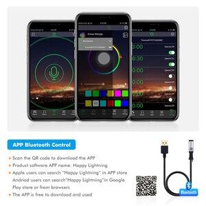 Image 5 - 5V USB Led רצועת 5050 RGB LED רצועת אור 5050 Bluetooth מוסיקה רצועת IP65 גמיש רצועת Led סרט קלטת טלוויזיה רקע תאורה