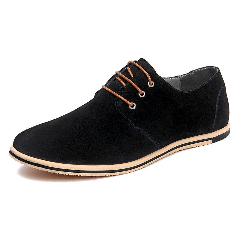 DXKZMCM 2019 Handmade  Men Leather Shoes Brand Casual Comfortable Formal Dress Shoes Men Flats