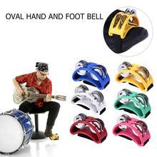 Elliptical Cajon Box Drum Companion Jingle Tambourine Percussion Instruments Accessory Hand Foot Hot Sale Davul Tambourine