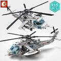 SEMBO Stadt Polizei Militärische Serie Bewaffneten Hubschrauber Bausteine STEM kit Flugzeug Ziegel Spielzeug Urlaub Geschenk für Kinder