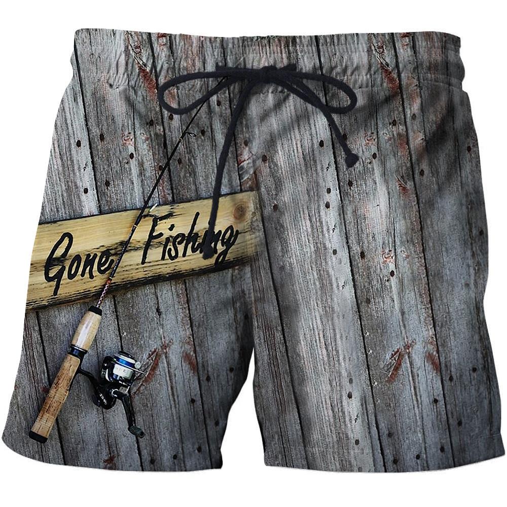 Men's Beachwear Cool Board Shorts Quick Dry 3D Print Fish Watersport Swim Trunks Summer Beach Shorts S - 6XL 2020 New