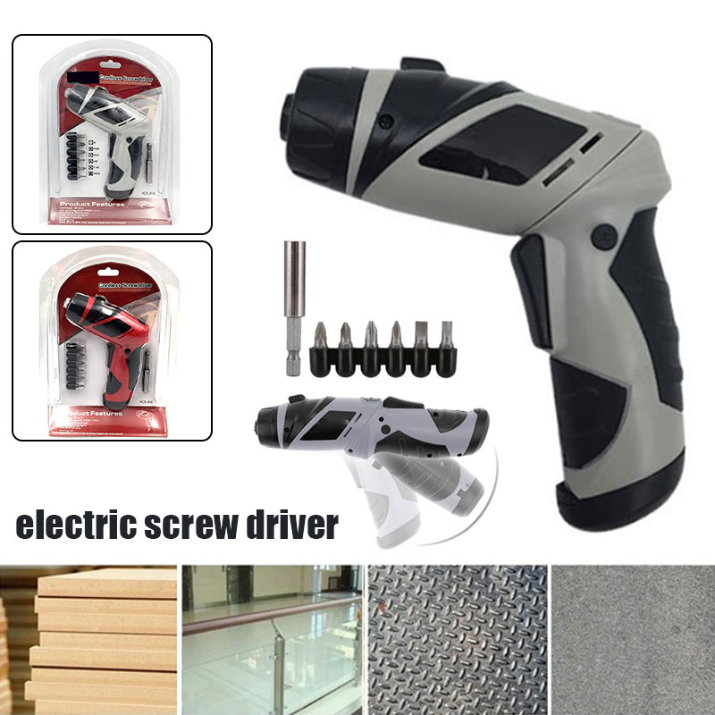 Electric Screw Driver 180 Rpm ABS Grinding Power Tools Screwdriver 2 Color 6V Cutting LED Polishing Durable Practical in Electric Drills from Tools
