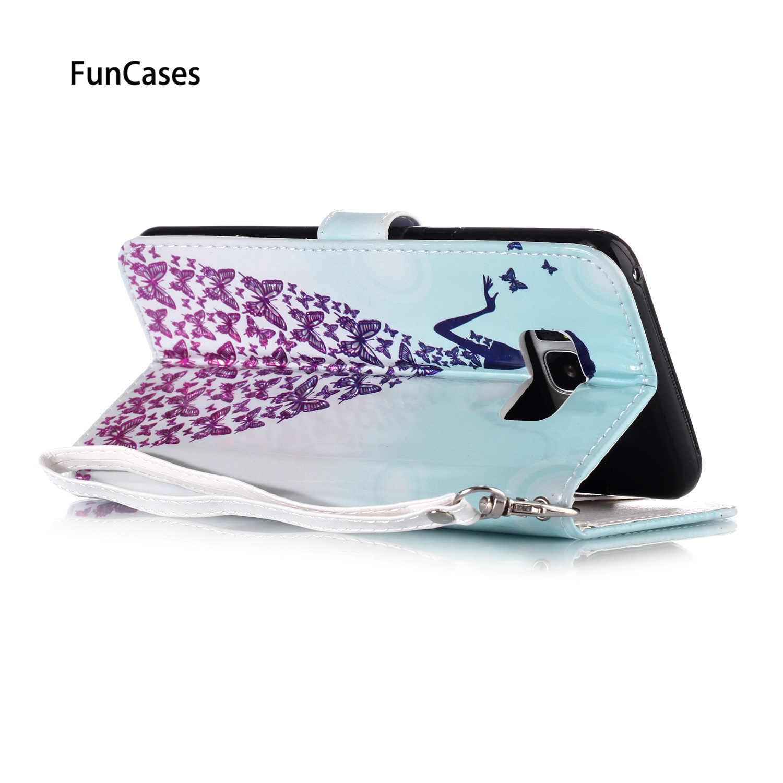 Support étuis pour Samsung S10 Plus S8 Plus sac de téléphone en cuir PU M30 S10 Lite 5G Samsung S6 S9 étui S7 Edge Galaxy M20 M10 couverture